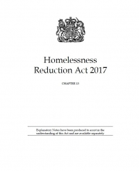 Homelessness Reduction Act 2017
