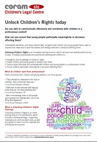 Coram Children's Legal Centre. Unlock Children's Rights today