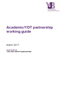 YOT/Academic Partnership Working Guide (2016)