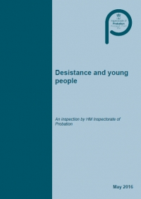 HM Inspectorate of Probation thematic report Desistance and young people (September 2017)