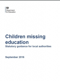 Children Missing Education, Statutory Guidance for Local Authorities (September 2016)
