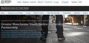 Greater Manchester Youth Justice University Partnership (GMYJUP)