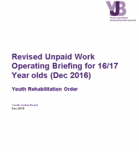 Unpaid Work Operating Briefing for 16/17 Year olds (Dec 2016)