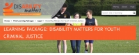 Learning package: Disability Matters for youth justice (July 2016)